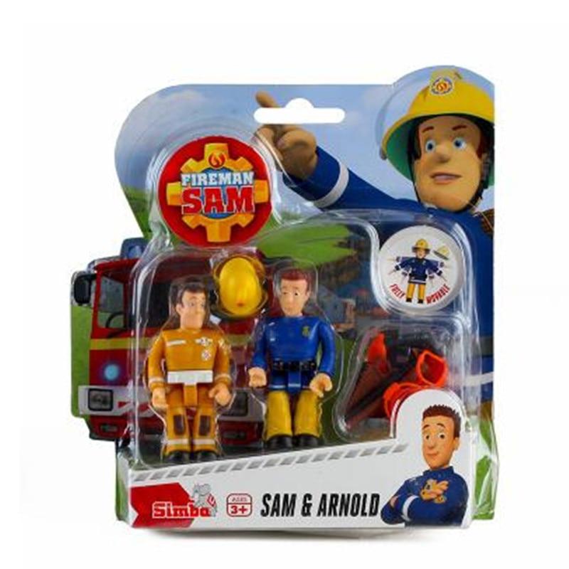 Original Fireman Sam Cute Cartoon PVC Action Figure Doll Toys For Kids Educational Fashion Toy Doll Kids gift