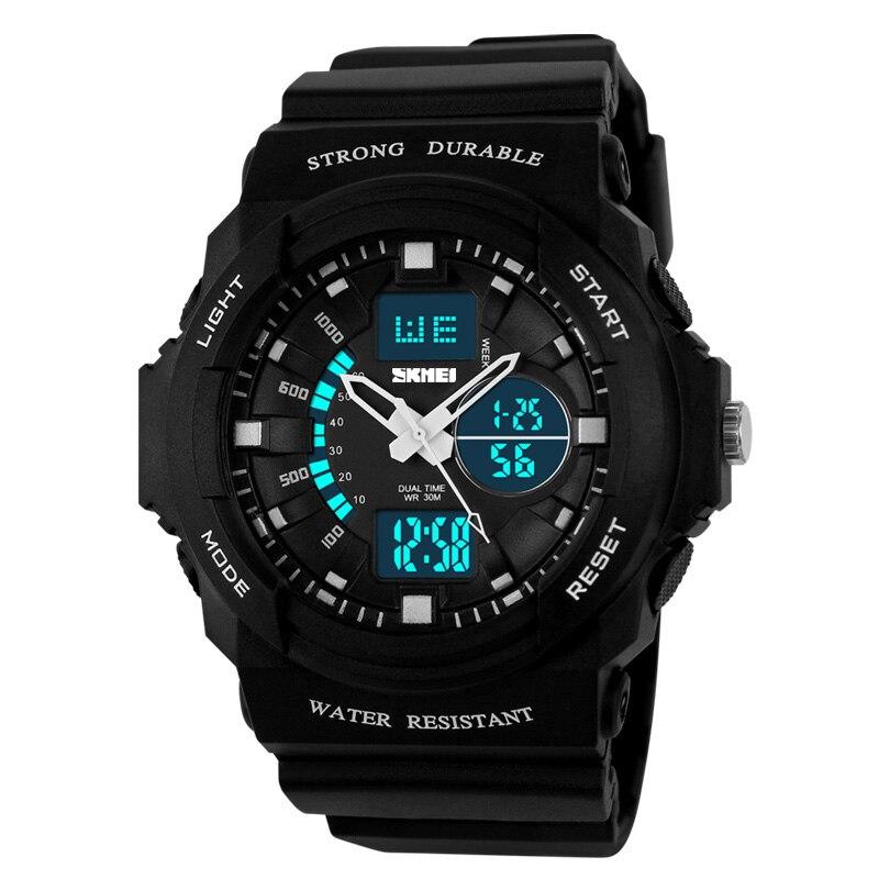 Azul del reloj SKMEI reloj Digital deporte mujeres relojes de visualización de hora Dual reloj hombre reloj cronógrafo impermeable reloj masculino 1008
