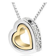 Best Cheap Double Heart Necklace Sterling Silver