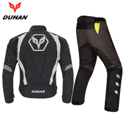 DUHAN Oxford Cloth Motorcycle Jacket Pants Warm Motocross Suits Men Protective Gears Winter Motorbike Clothing Jacket Trousers