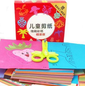 Image 2 - 96 arkuszy ręcznie robiony papier cięty książka papier typu kraft dzieci DIY Handmade książka papier do scrapbookingu zabawki dla dzieci zabawki edukacyjne WYQ