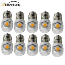 10x 0.5W E10 Screw Base 1smd 5050 Indicator Bulb Low Power Consumption DC3v 6V 12V White 6000K Warm white 4300K LED Light