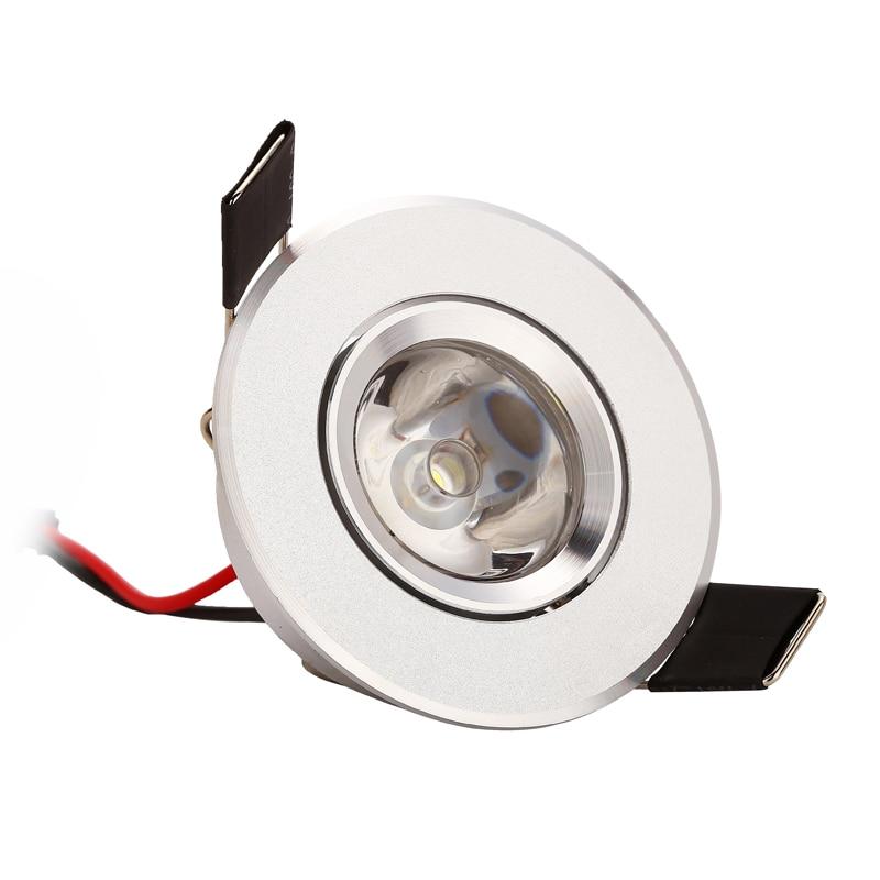 10pcs 1w 3w 85-265V LED Οροφής Ασημί Διάταξη - Εσωτερικός φωτισμός - Φωτογραφία 1