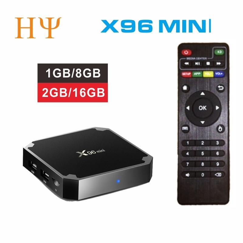 3PCS/LOT X96 mini Android 7.1 Smart TV BOX 2GB 16GB 1GB 8GB Amlogic S905W Quad Core support 4K 30tps 2.4GHz WiFi X96mini