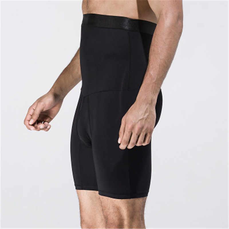 036874224e3 ... NEW Black White Men Body Shaper Pants High Waist Trainer Slimming  Panties Belly Abdomen Fat Drawing