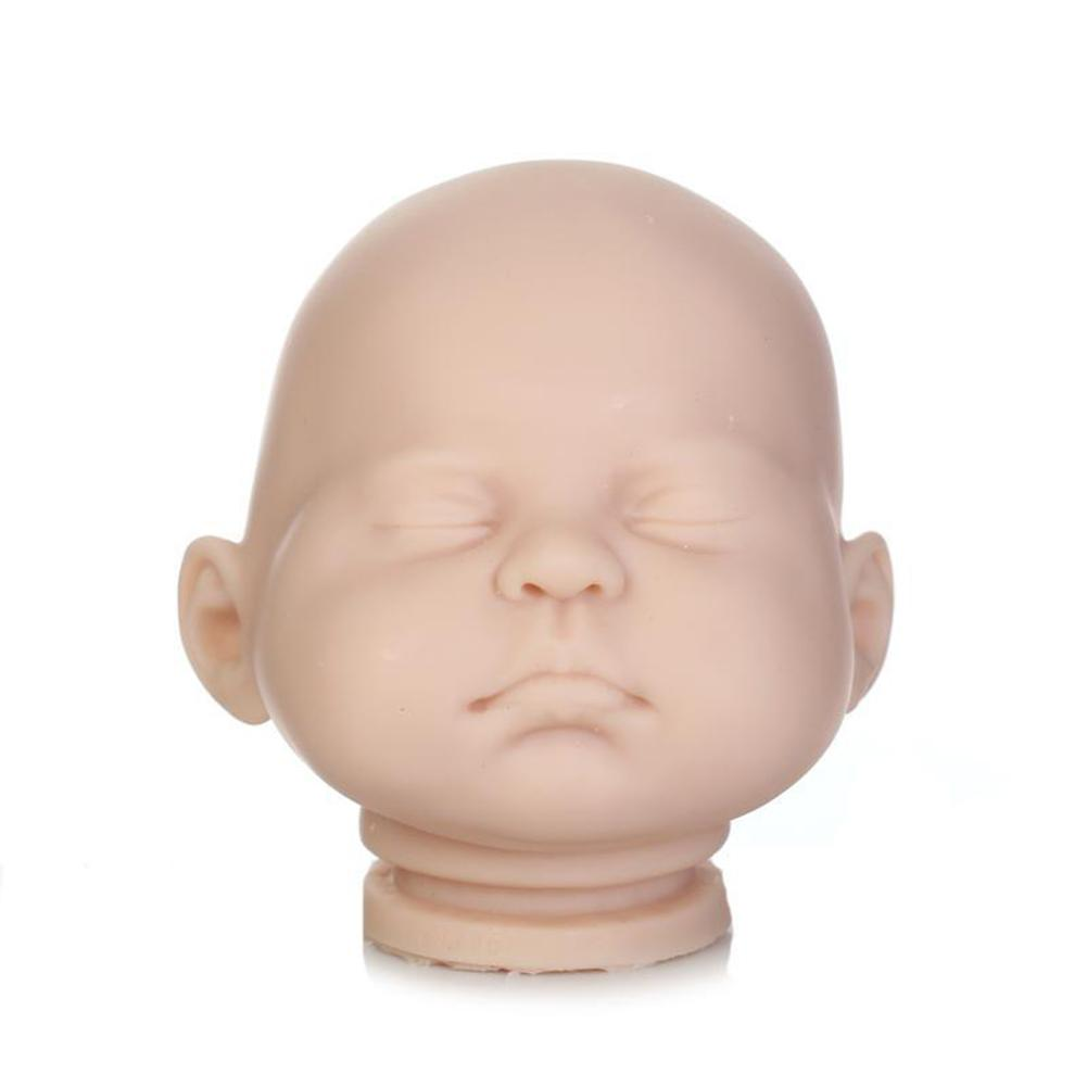 22inch Unisex Vinyl Silicone Reborn Baby Alive Doll Kits Doll Accessories With Head 3/4 Limbs Blank Unpaint Parts DIY 1
