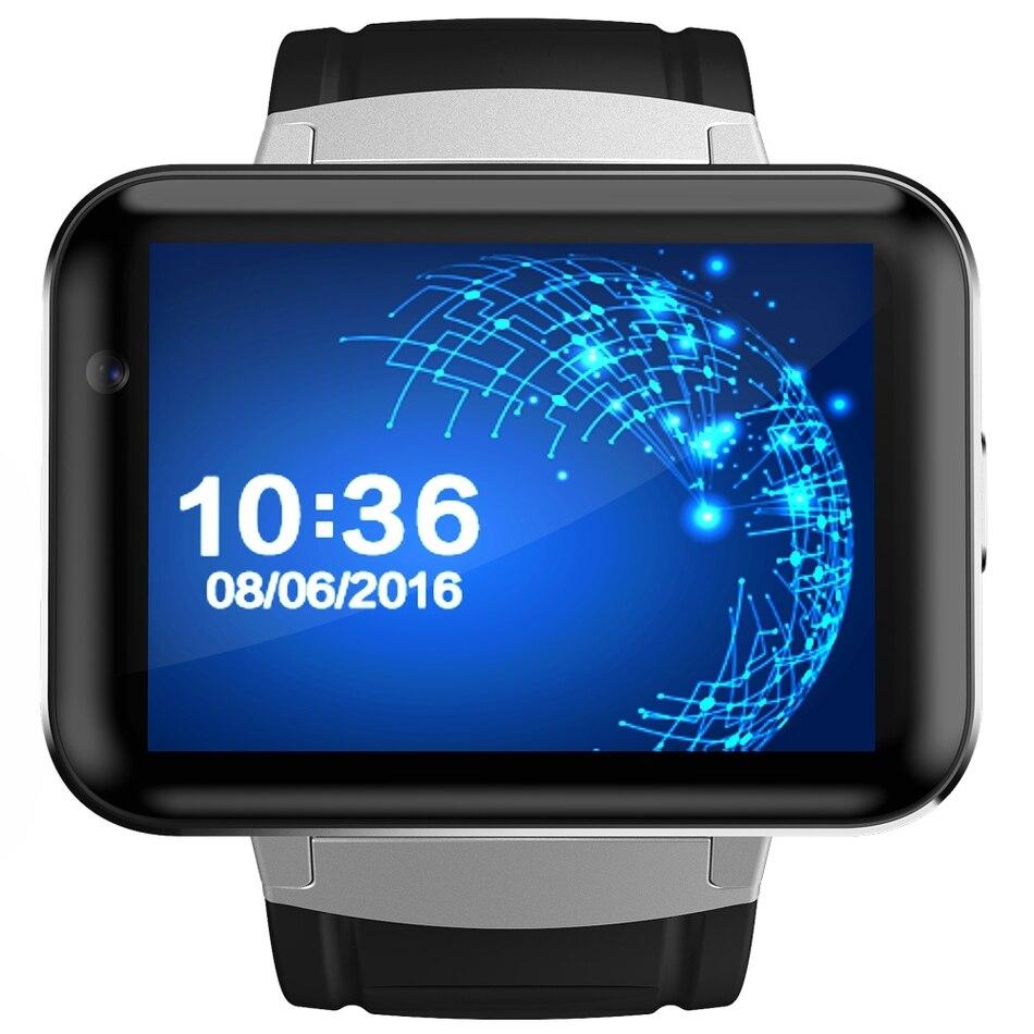 DM98 reloj inteligente Android 4.4 smartwatch teléfono Bluetooth MTK6572 2G 3G reloj WiFi 512 MB 4 GB GPS reloj PK LEM4 Relogio reloj