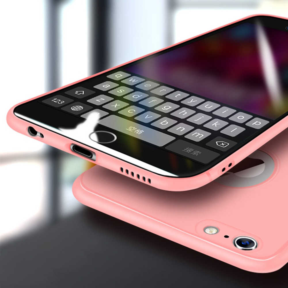 Silikon Phone Case untuk iPhone 6 S 6 S 7 8 PLUS Lembut TPU Matte Ultra Tipis Back Cover untuk iPhone 8 7 Plus 7 Plus 7 Plus Kasus Shell
