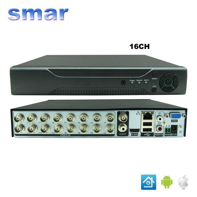Smar dvr cctv 16ch digital video recorder 16 canales h264 casa seguridad DVR 1080 P HDMI de Salida de $ NUMBER CANALES de Entrada de Audio $ NUMBER CANAL de Salida de Audio
