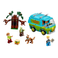 Bela Scooby Doo Mystery Machine Bus Minifigures Building Block Minifigure Toys 10430 Compatible With lepin Birthday Gift