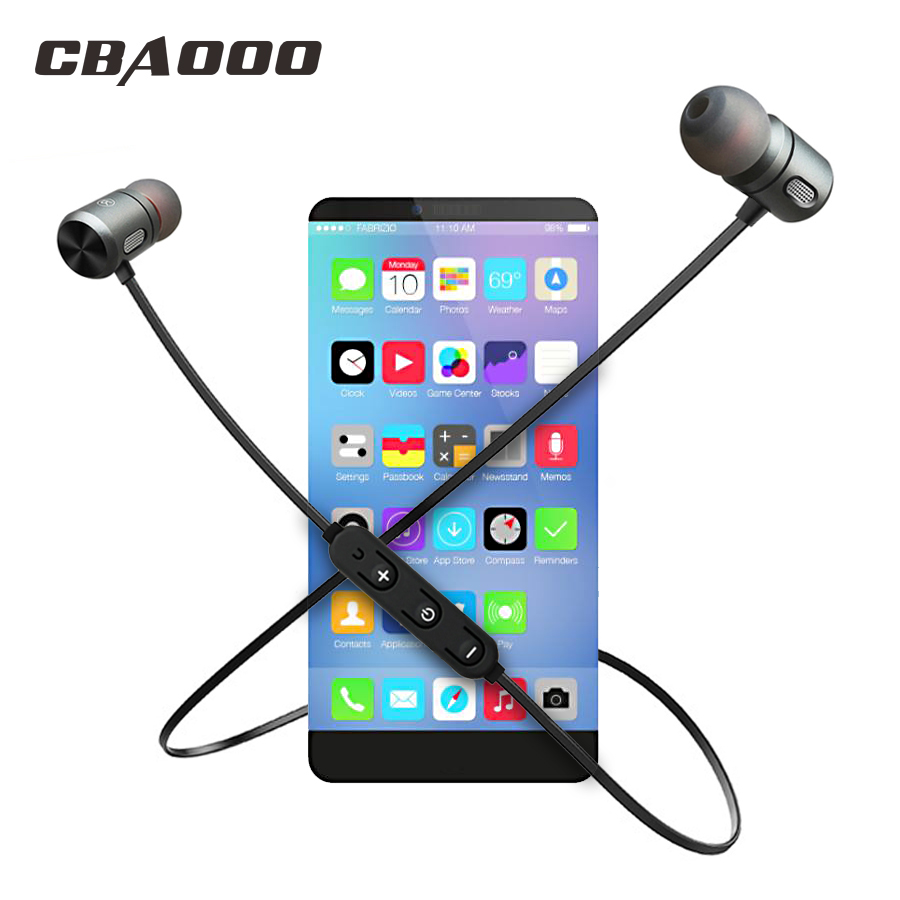 CBAOOO C10 Wireless Bluetooth Earphone Sport Headset Bluetooth Earpiece Magnetic Hifi Stereo with mic for xiaomi Android ios