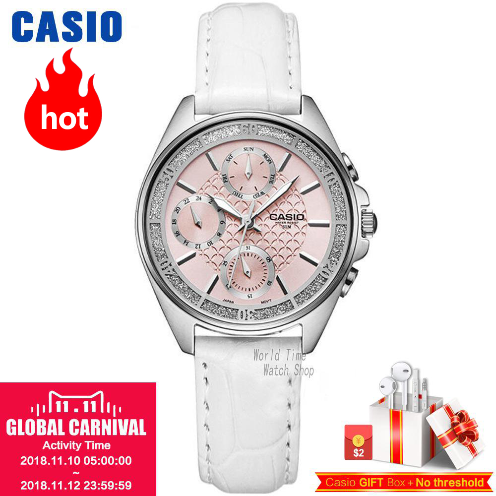 Casio watch Analogue Women's quartz sports watch simple calendar waterproof watch LTP-2086 LTP-2085 casio ltp e306d 4a