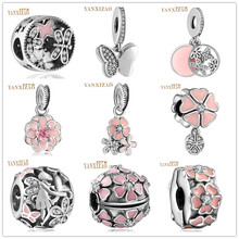 925 Sterling Silver European CZ Charm Beads Fit Pandora Style Bracelet Pendant Necklace DIY Jewelry Originals