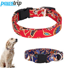 M-3XL Large Dog Collar Leather Puppy Lead Release Buckle Pet For Dogs 0.8 inch Width Leash Running Walking
