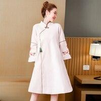 eb03528bcf Chinese Wool Dress Women Plus Size Large Midi Dresses Party Runway 2018  High Quality Winter Whiter. Chiński wełny sukienka kobiety plus size duża  sukienki ...