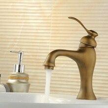 Ванной бассейна смесители античная латунь закончил горячей и холодной бортике с керамической torneiras пункт banheiro кран AF1050