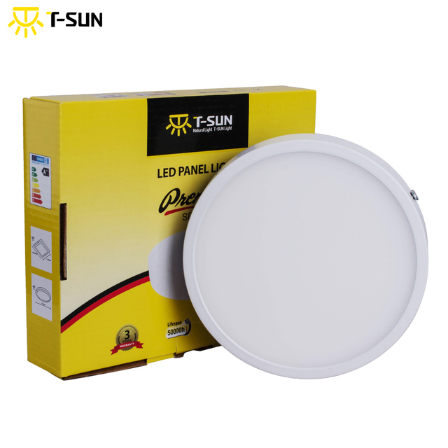T-SUN Ultra-thin 8W/16W/24W/32W Round Panel LED Aluminum LED Panel Light Surface Mounted Downlight ceiling down lamp AC85-265V