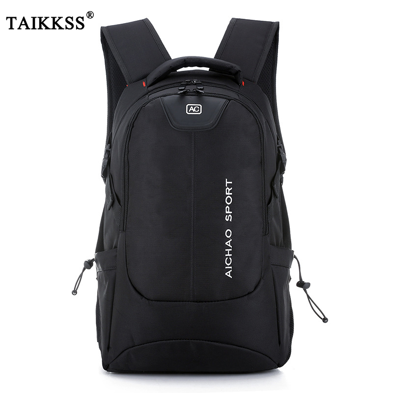 Portable Large Capacity High Quality Oxford Cloth Business Travel Backpack Solid Color Computer Bag College Student Men's Bag