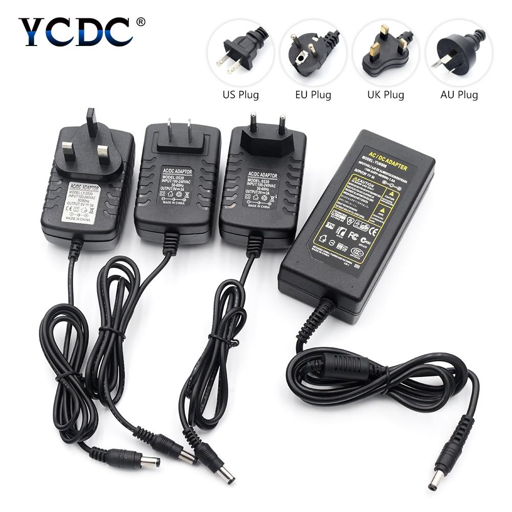 TSLEEN 5V 3A 5A 6A 8A AC 100V-240V Converter Power Adapter Transformer Charger For Strip Lights CCTV Camera DC 5V 55 x 21mm