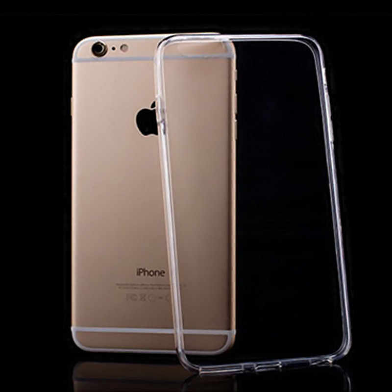 Funda transparente suave TPU para Apple Iphone 6 6S Plus iPhone 7 funda 6 5 5S se 7 8 funda de teléfono de silicona de cristal de luz plus X XS XR