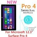 """5 pcs 9 h 0.3mm para microsoft surface pro 4 12.3 """"filme tablet pc à prova de explosão temperado vidro temperado-tampa do protetor de tela à prova de"""