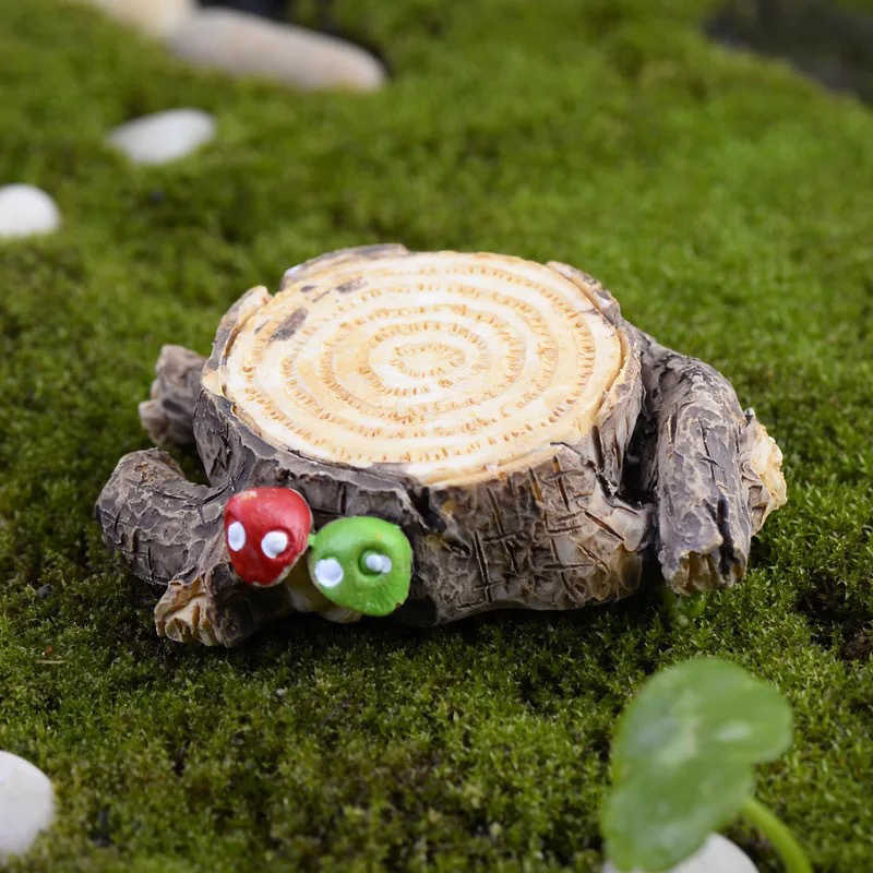 1Pc Artificial Mushroom Tree Stump Miniature Fairy Garden Decoration Mini Craft Micro Landscaping Decor DIY Accessories