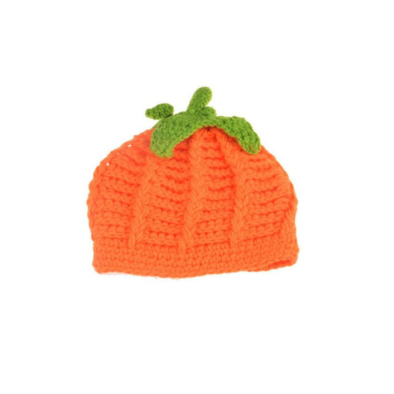 17 Cute Halloween Baby Hat Newborn Baby Pumpkin Cap Knit Hat Costume Photography Prop Dropshipping AG02 8