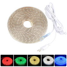IP65 Waterproof LED Strip Light SMD5050 With Switch Plug AC220V LED Flexible Light Strip 60LEDs/M LED Ribbon Tape 5M 10M 20M 25M led strip 12 v smd 5630 12v 60leds m waterproof 5m led strip warm white blue led tape diodes ip20 ip65 flexible 5630 led light