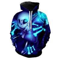 Undertale Cosplay Costume Sans Frisk sweat à capuche de Cosplay hommes femmes à capuche veste 3D imprimé manteau Sportswear Sweatshirts S-5XL
