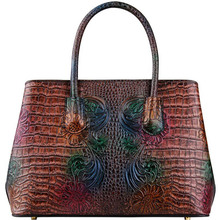 Genuine Leather women bags for 2019 new luxury crocodile pattern handbag brand bag female designer