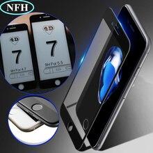 """4D(2nd Gen 3D) полное покрытие закаленное стекло для iPhone 7 7 Plus изогнутая взрывобезопасная пленка 9H жесткий чехол на 7 7PLus 4,"""" 5,5"""""""