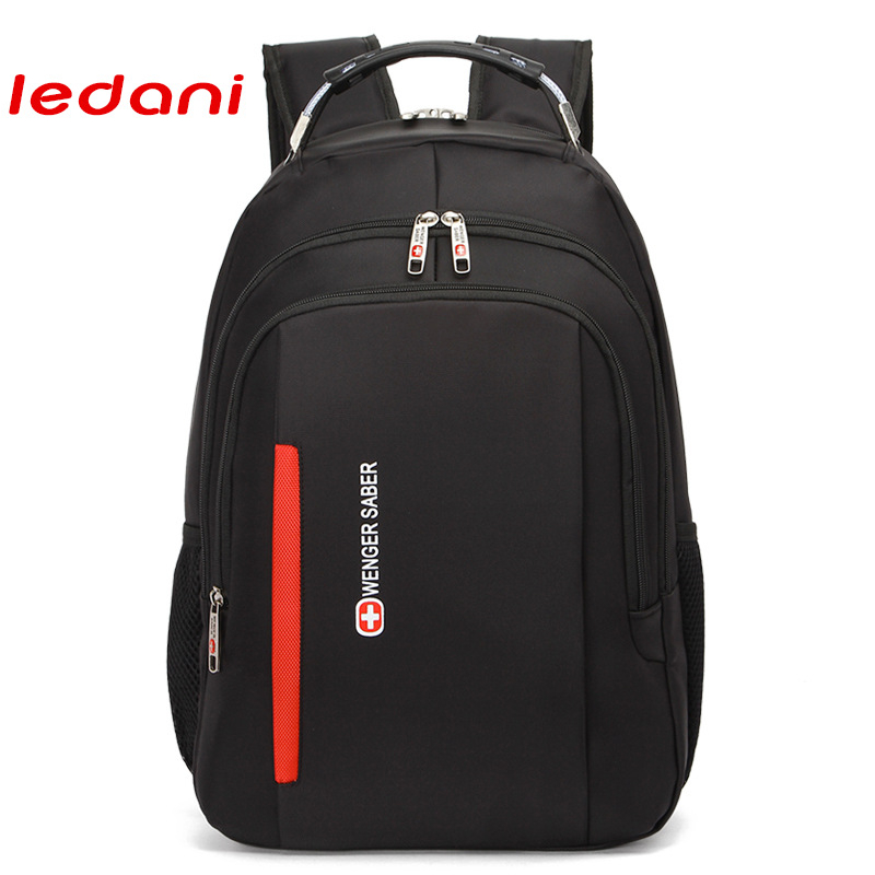 LEDANI Waterproof Oxford Backpack Female Men School Backpacks for College Travel Laptop Women Notebook Bag 14 to16 Inch kingsons brand waterproof men women laptop backpack 15 6 inch notebook computer bag korean style school backpacks for boys girl