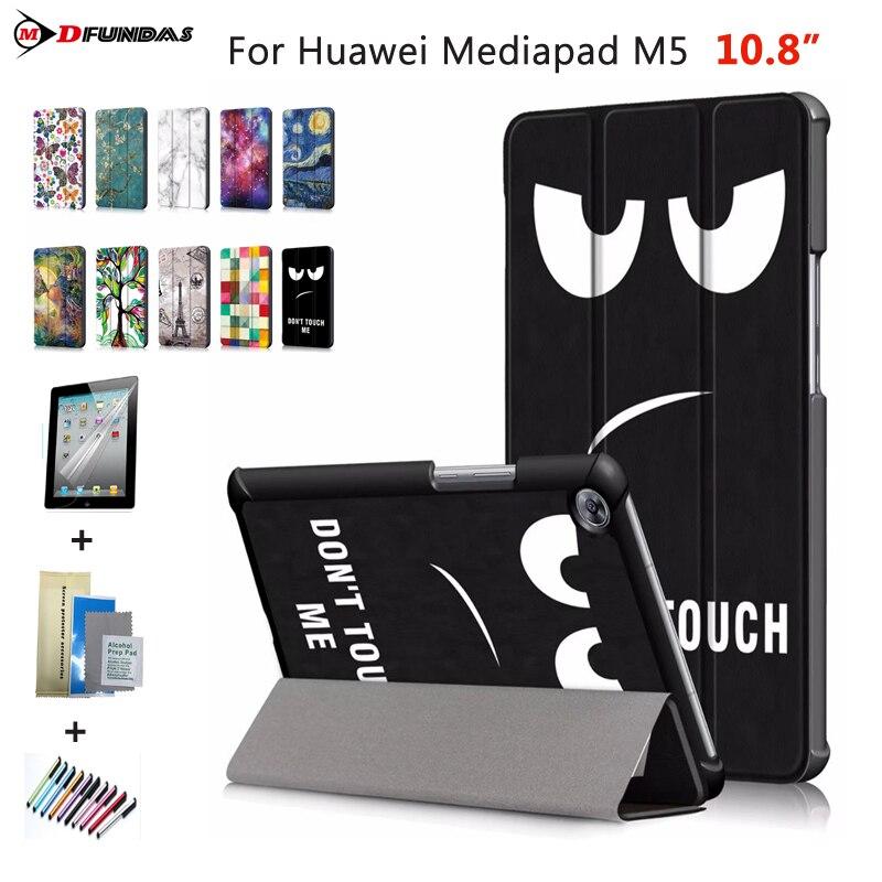 For Huawei Mediapad M5 10.8 Cases On For Huawei M5 10.8 Cover CMR-W09 AL09 Flip Smart Auto-sleep Leather Patterned Tablet Funda чехол для планшетного компьютера huawei flip cover для huawei mediapad m5 8 4 gray
