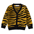 QUIKGROW Мода Leopard Печати Младенческой Ребенок Джемпер Свитер С Длинным Рукавом V-образным Вырезом Кнопка-передняя Трикотажные Весна Осень Пиджаки YM15MY