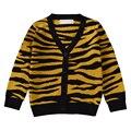 QUIKGROW Print Leopardo Moda Infantil Cardigan Bebê Camisola de Manga Comprida Com Decote Em V Botão-frente de Malha Primavera Outono Outwear YM15MY