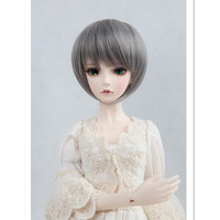 Latest 1/3 1/4 1/6 SD BJD Doll Wig Short Bob Straight Wigs,Silver Color Doll Hair Accessories for Dolls