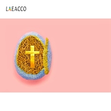 Laeacco Solid Color Golden Egg Cross Christian Portrait Photography Backgrounds Custom Photographic Backdrops for Photo Studio