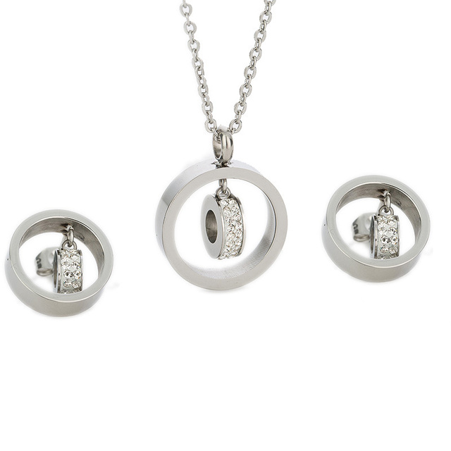 Gold Jewelry Set  316L Stainless Steel