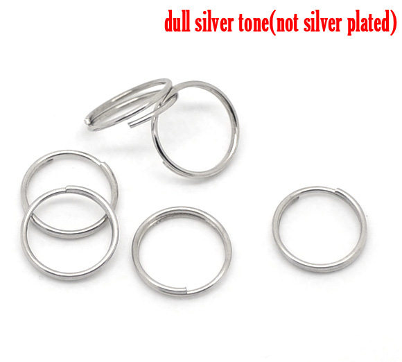 "DoreenBeads Alloy Split Jump Rings Round Silver Tone 10mm( 3/8"") Dia, 150 PCs"