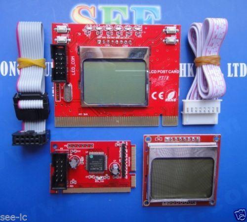 Tarjeta Post Test de diagnóstico para PCI del ordenador portátil / Mini PCI / LPC con doble pantalla