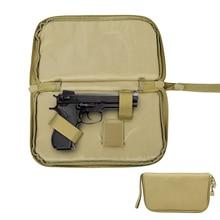 цены Tactical Pistol Carry Bag Portable Military Handgun Holster Pouch Durable Hand Gun Soft Case Portable Gun Magazine Pouch