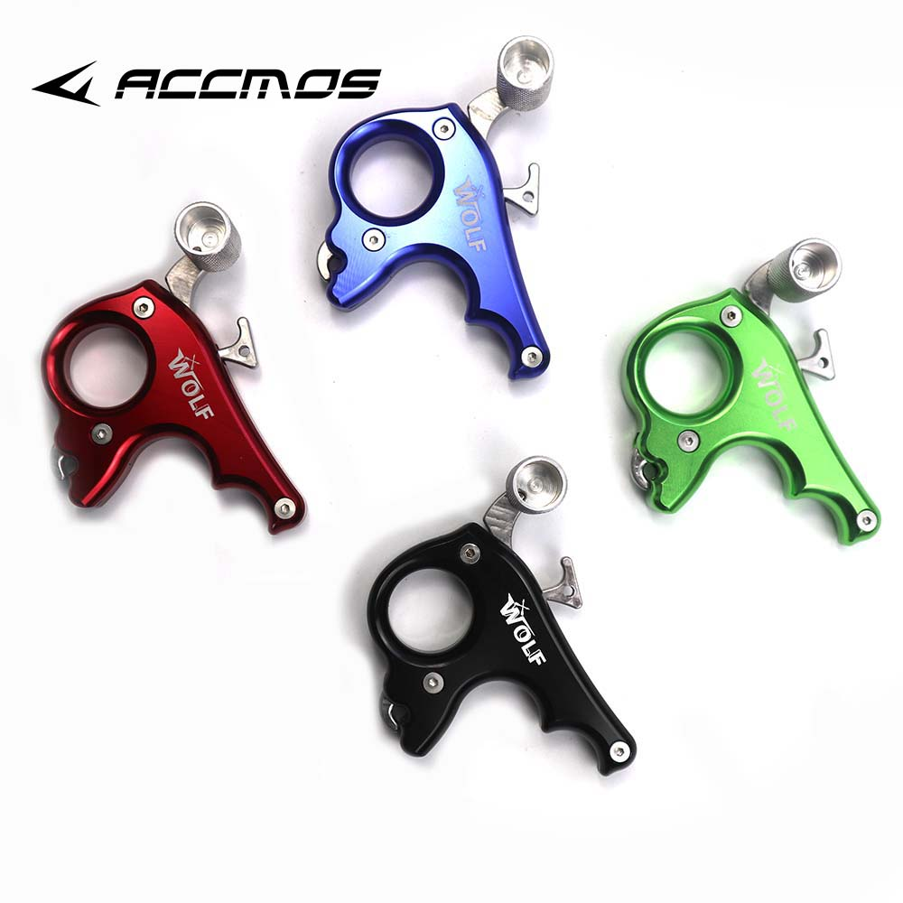 WOLF 440C 3 Finger Stainless Steel Release Aid Archery Caliper Release For Compound Bow Archery Arrows And Bow Release