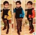 2015 otoño invierno nuevos niños del suéter caliente de espesor niños suéter de la capa A074