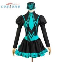 Vocaloid Hatsune Miku Uniform Girls Top Skirt Hat Anime Halloween Party Cosplay Costumes For Women Custom