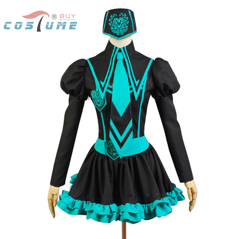 Vocaloid Hatsune Miku Uniform Cosplay Costumes For Women Anime Halloween Party Costumes Custom Made mllse anime hatsune miku vocaloid smart sun glasses bluetooth 4 1 stereo music wearable devices sport headset for phone mp3 mp4