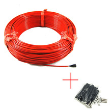 12K 33 Ohm/m Infrared Underfloor Heating Cable System Concrete engineering materials Silicon carbon fiber electric wire warm