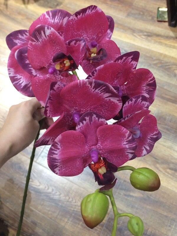 Haus & Garten Festliche & Party Supplies Neue Ankunft 3d 90 Cm Künstliche Blume Phalaenopsis Latex Beschichtung Seide Blume Real Touch Orchidee Orchidee Multicolor Hochzeit
