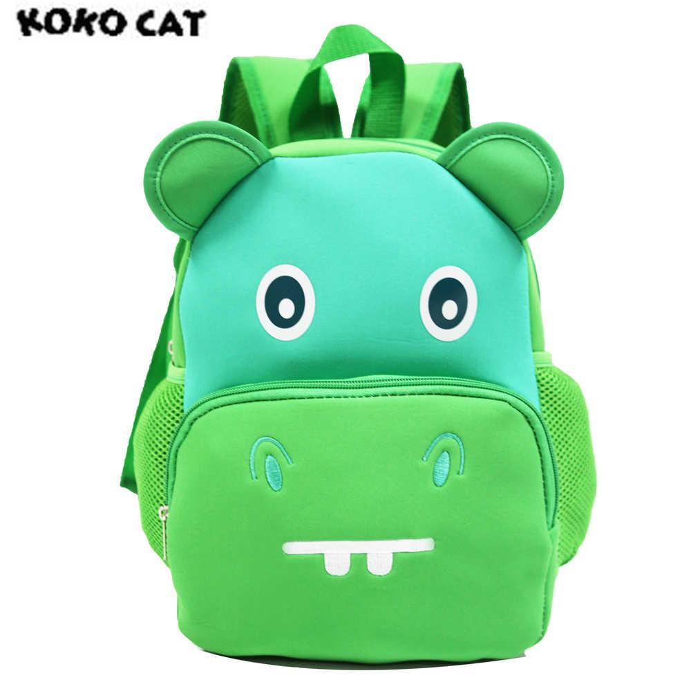 7b1e97ec27d8 KOKOCAT Children 3D Cute Animal Design Backpack Toddler Kid Neoprene School  Bags Kindergarten Cartoon Comfortable Bag