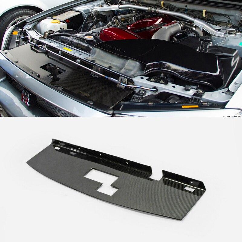 Panneau de claquement de refroidissement en Fiber de carbone finition brillante revêtement intérieur du moteur Kit de réglage garniture dérive pièce de course pour Nissan Skyline R34 GTR