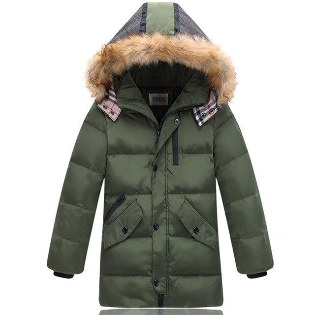 2017 зимняя куртка для мальчиков Теплый Повседневное парка детская зимняя куртка для мальчика зимние пальто Обувь для мальчиков 90% утка Пух детский лыжный верхняя одежда